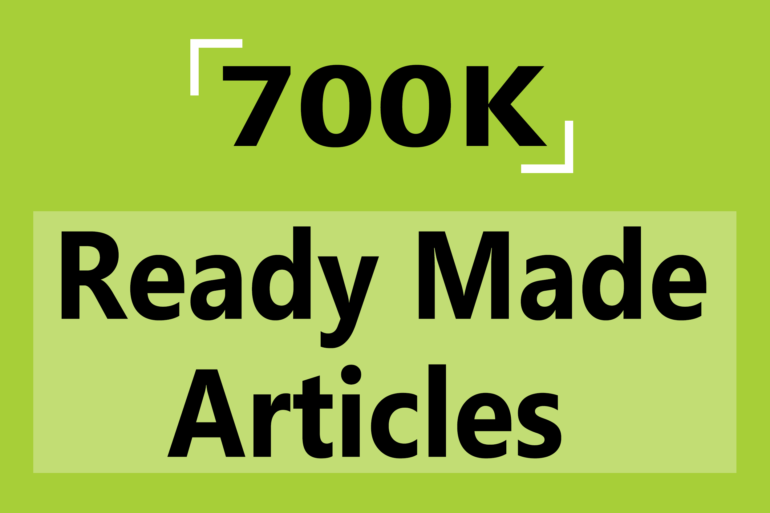 700K Ready Made Articles Pack In Different Quality Content Niche
