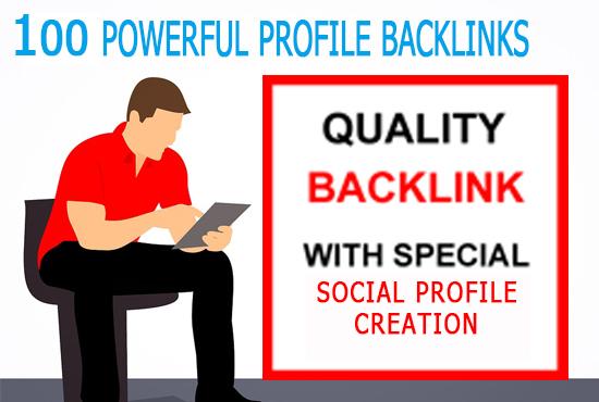 Provide 100 profile backlinks