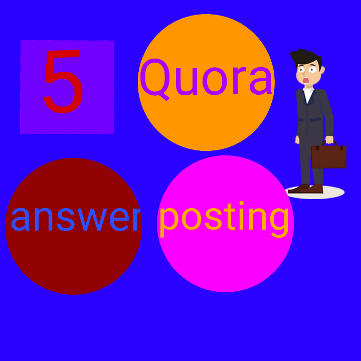 High Quality 5 Quora Answer posting with your keyword And Url:
