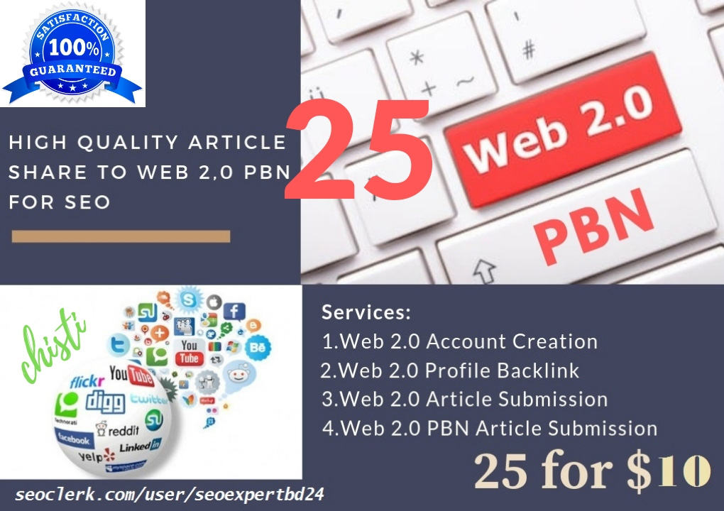 I promote your websites by article sharing to web 2.0 pbn