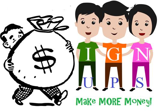 Add 40 affiliate website or referral sign ups