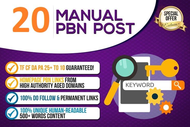 Create 20 High PA/DA TF/CF Homepage PBN Backlinks