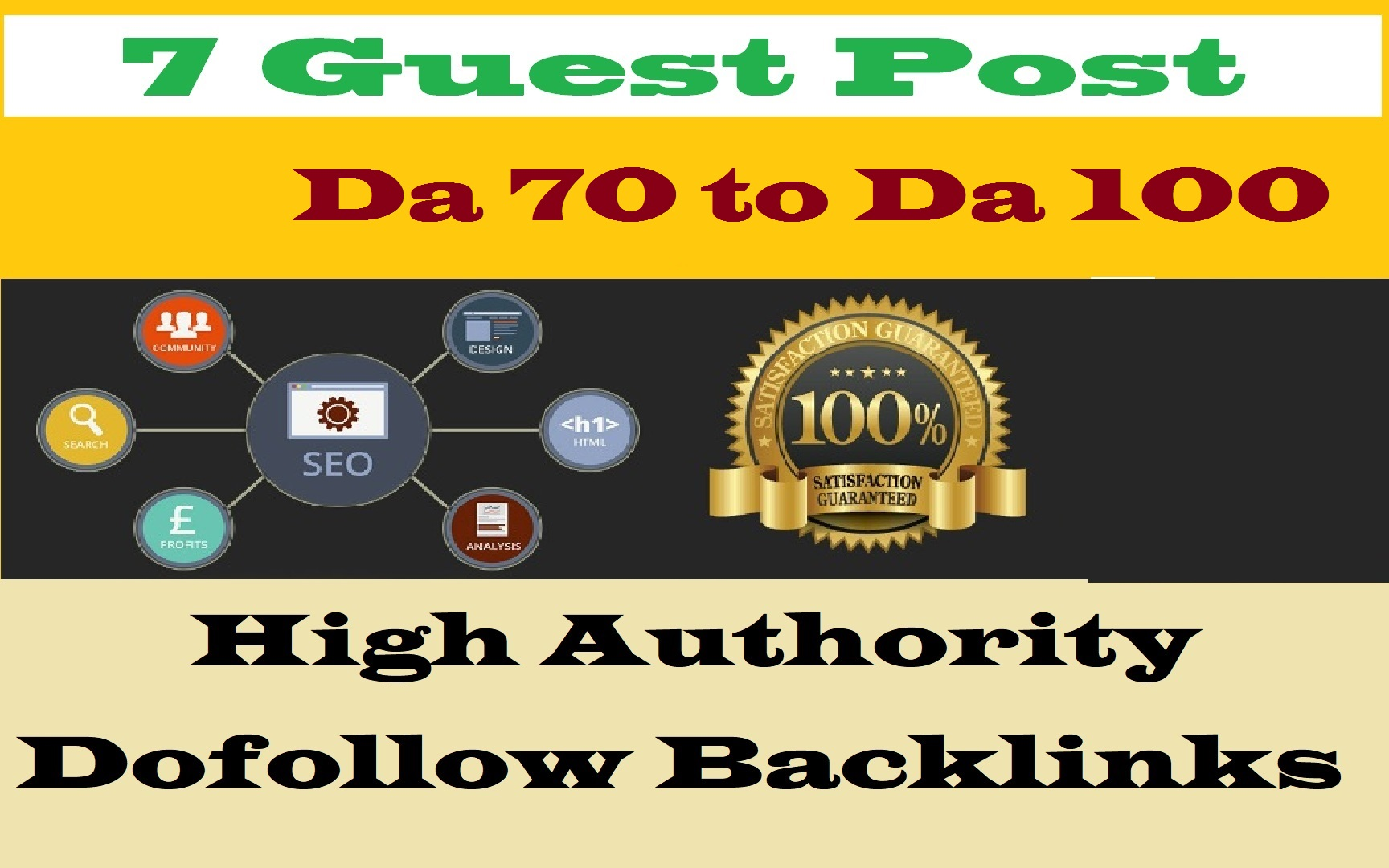8 Write And Publish Guest Blog Posts On Da 65 To 90 Websites for $56