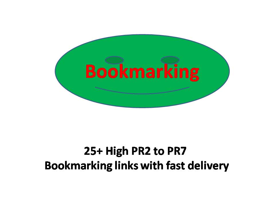 25+ High PR2 to PR7 Bookmarking links with fast delivery