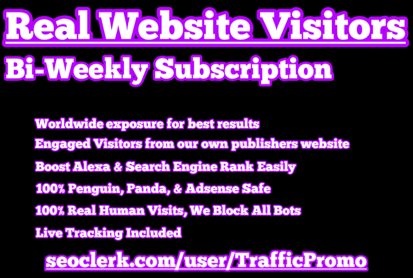 25,000 Real Human Website Traffic Bi-Weekly