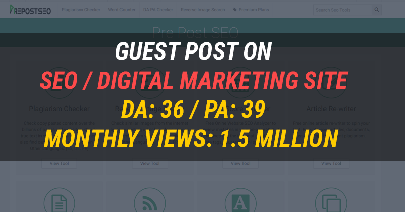 Guest post on my SEO / Digital Marketing Website for $80