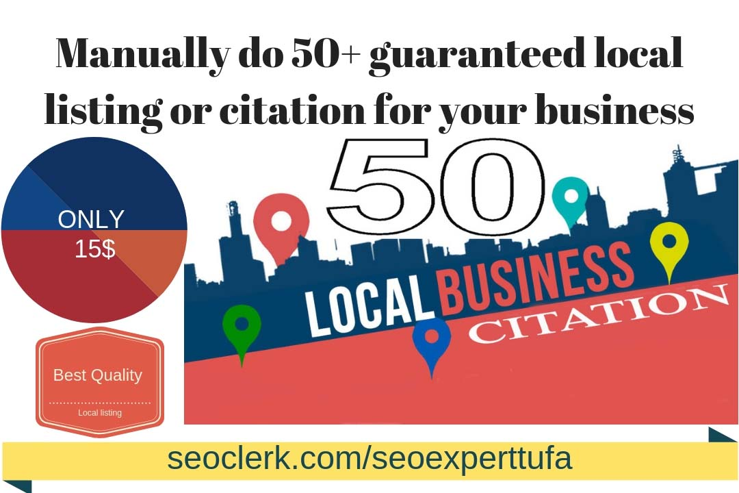 Manually do 50+ guaranteed local listing or citation for your business