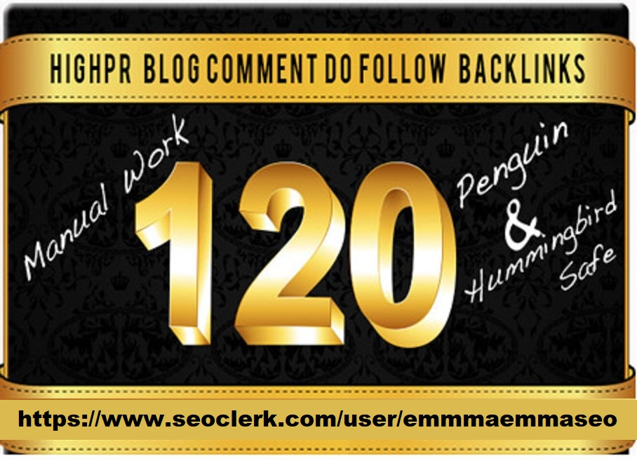 120 high trust flow, citation flow dofollow backlink blog comment with high da pa