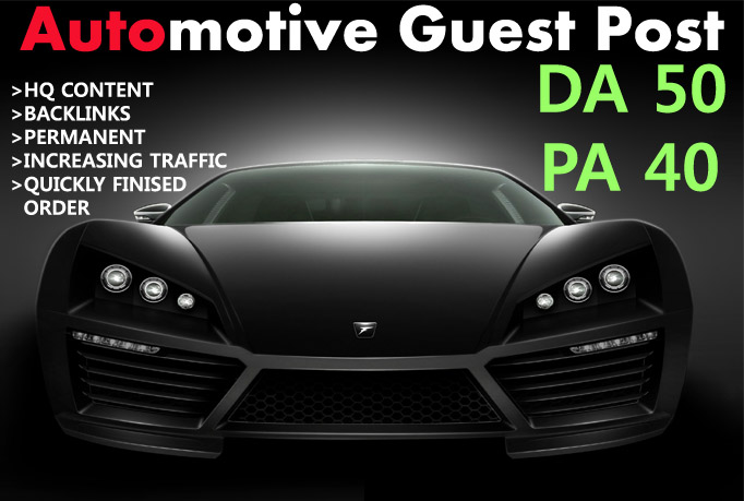 write and publish guestpost on automotive site 2xda50 low spam score