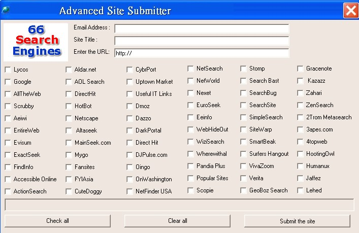 Submit Your Website Top 66 Search Engines