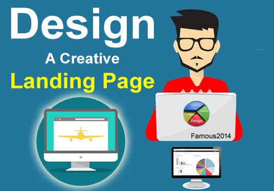 Design A creative landing page/homepage for your website