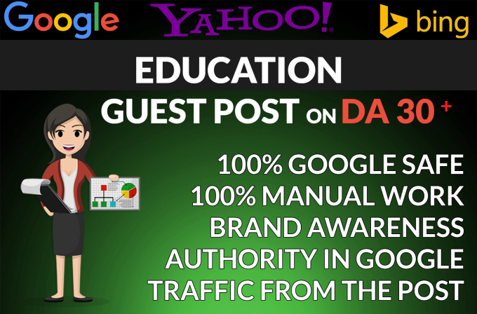 write and publish high quality guest post on education sites for $5