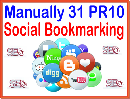 Create Manully 31 PR 10 social bookmarking Highly Authorized Google Dominating Backlinks