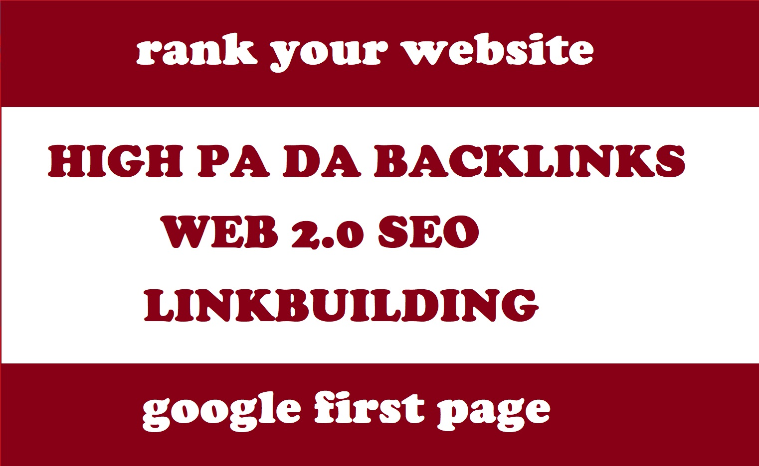 Get 30 high PA DA web 2.0 backlinks for your website 100% manually created