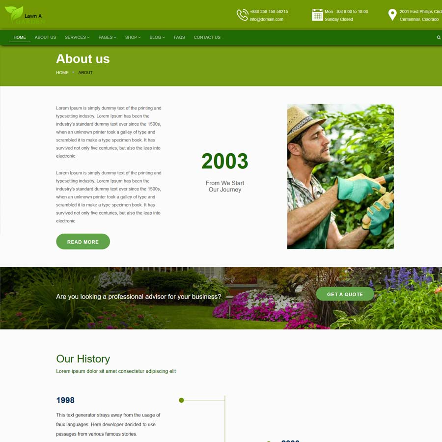 lawnAgarden - A landscaping template
