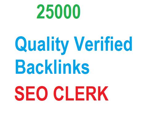 25000 Verified Backlinks