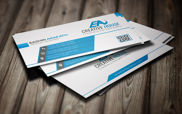 business card design with 1 hours