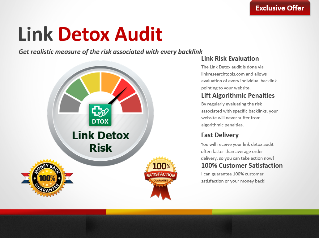 Link Detox Audit and Disavow File