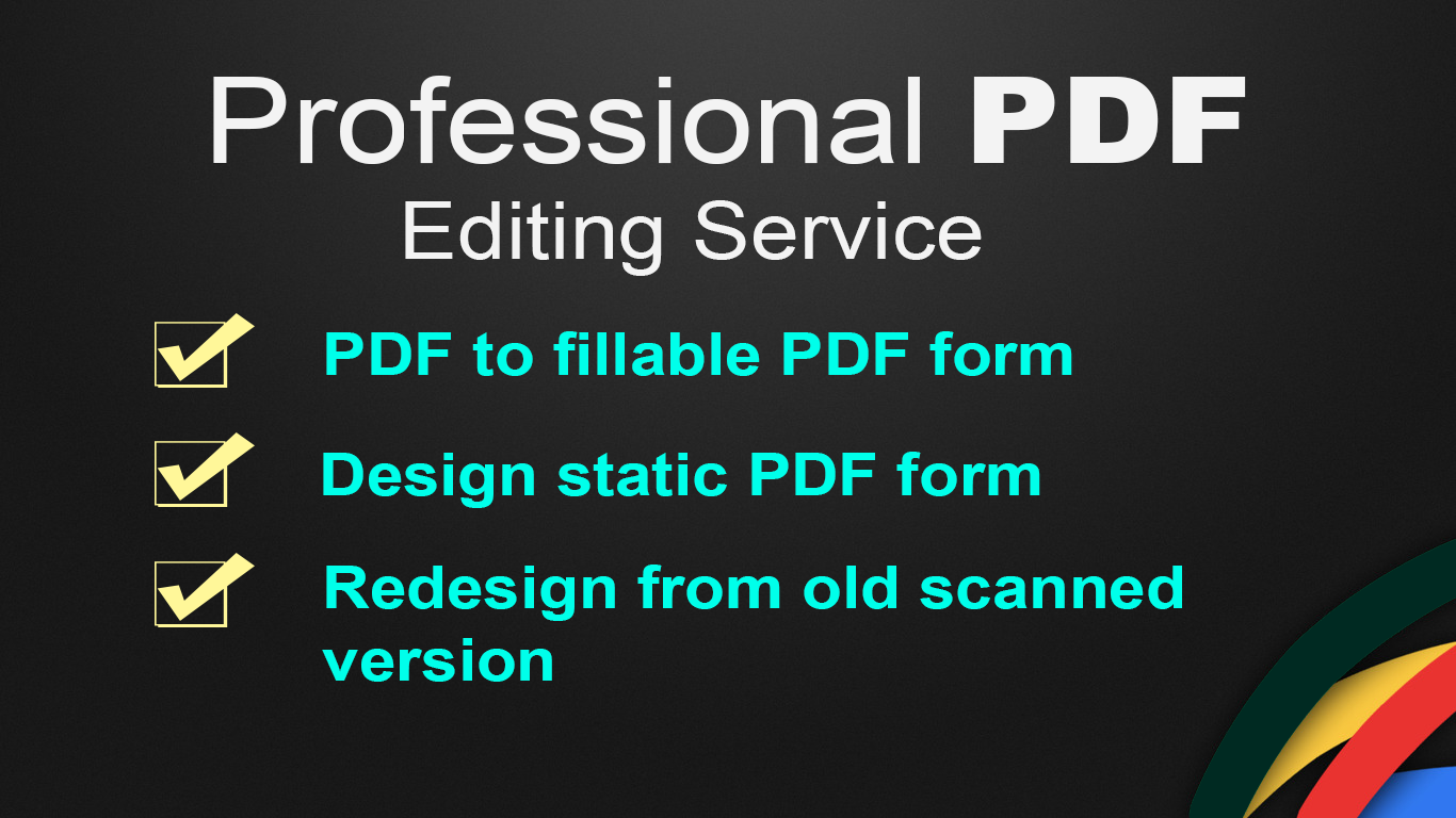 Create Fillable Pdf Form Or Edit Pdf