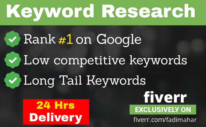 I will Research Best low competition SEO keywords