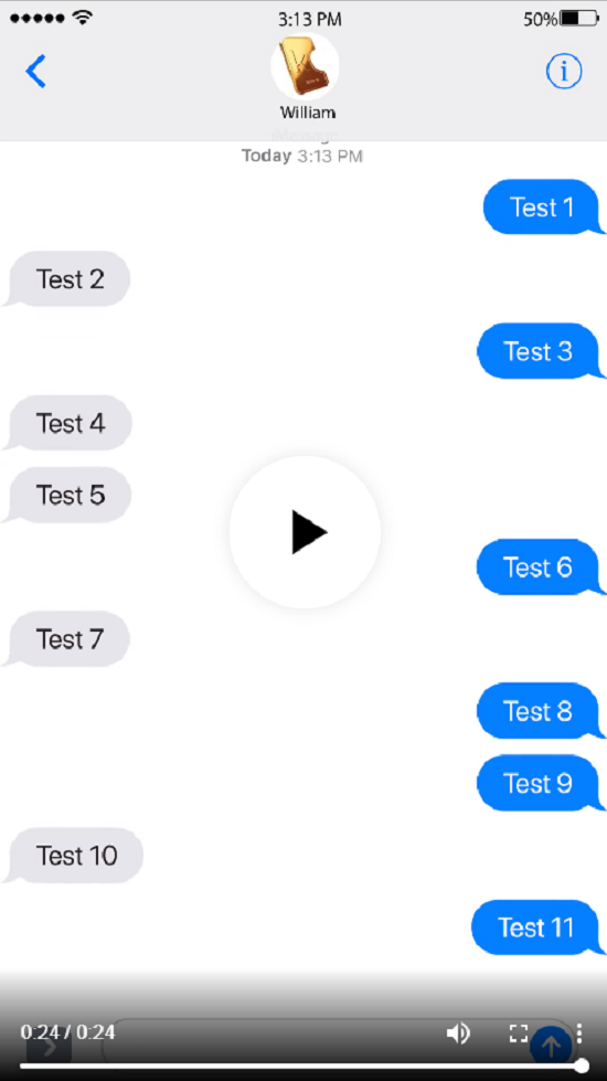 Create a text message video for you