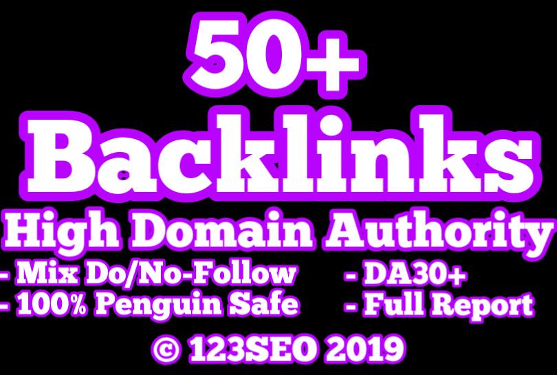 50 Domain Authority 30+ Backlinks