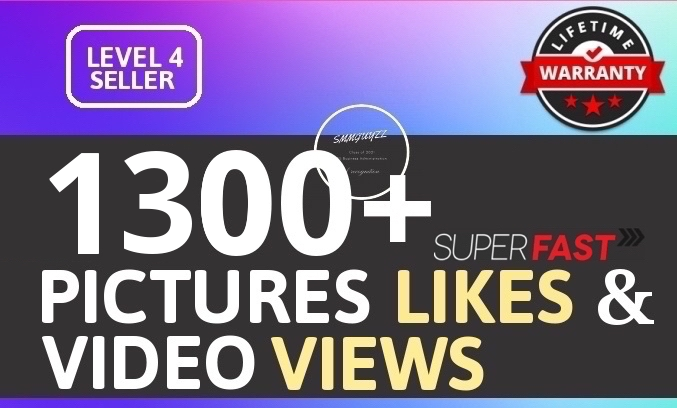 Add 1300+ High Quality Likes OR Views