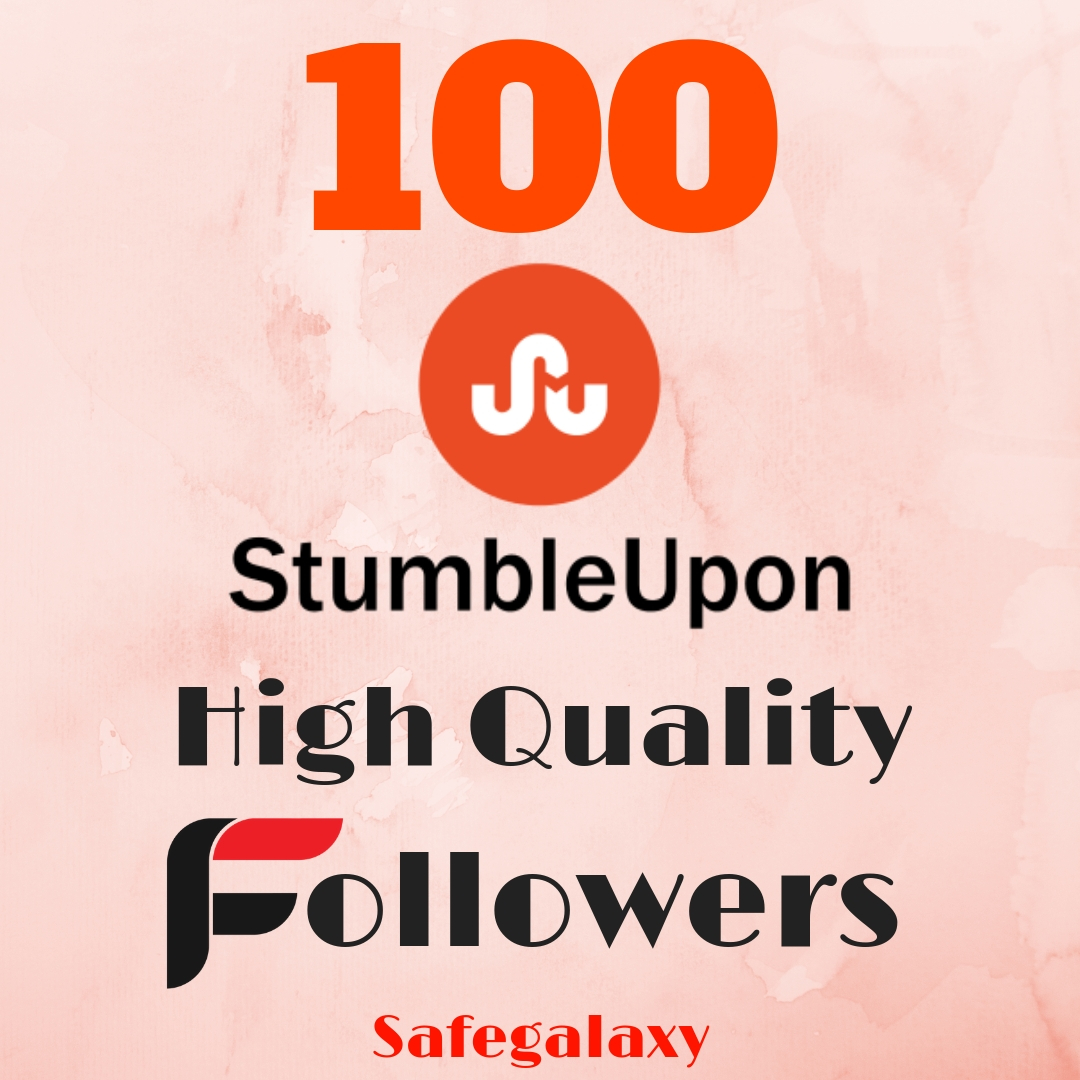 Instant Super 100 Stumbleupon High quality Real followers Cheapest price