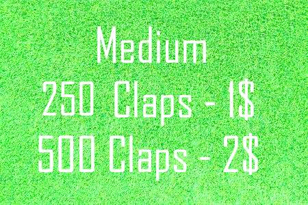 250 Medium Claps  for your article
