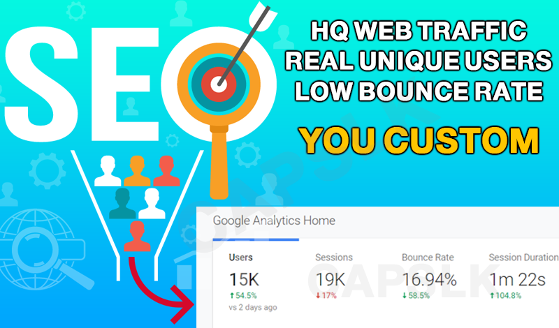 HQ Web Traffic + Unique Visitors + Low Bounce Rate Guaranteed! Boost Alexa Rank / SEO