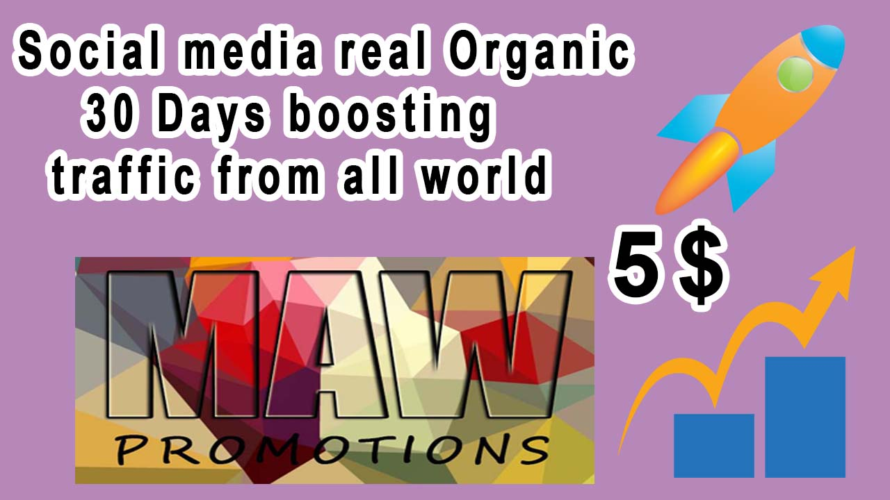 Real 30-day organic social media boosting traffic from around the world.