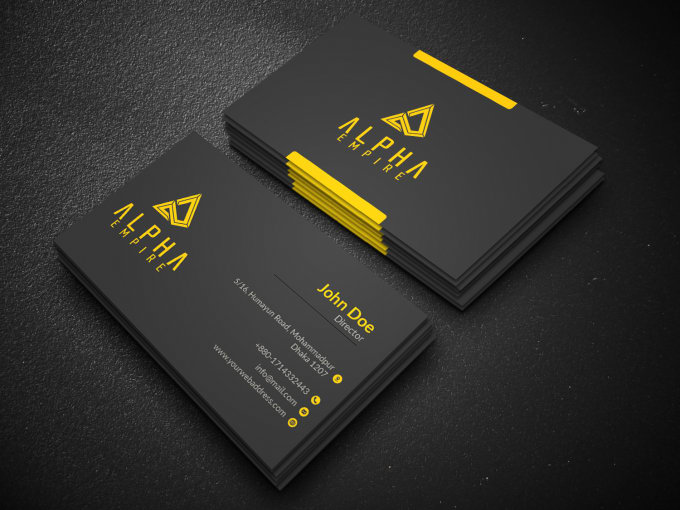 Design your business card wtih two concepts
