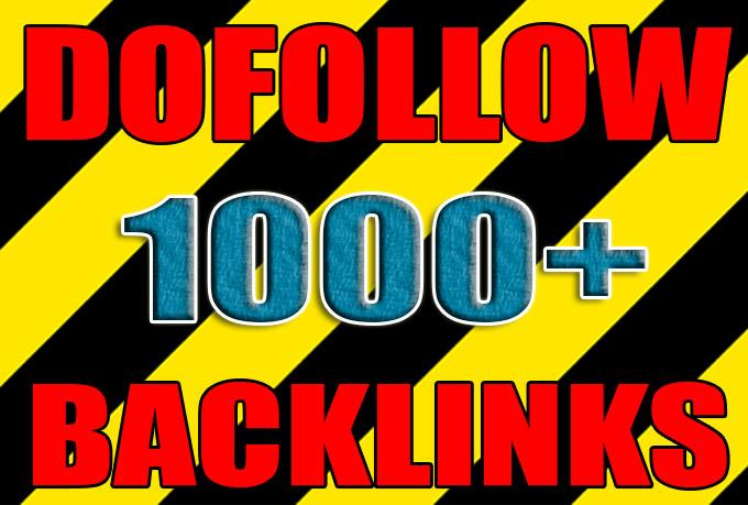 Get over 1000 dofollow backlinks