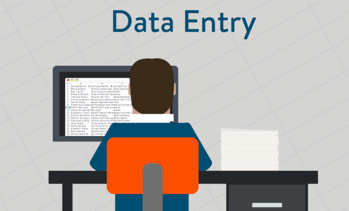 data entry for web research