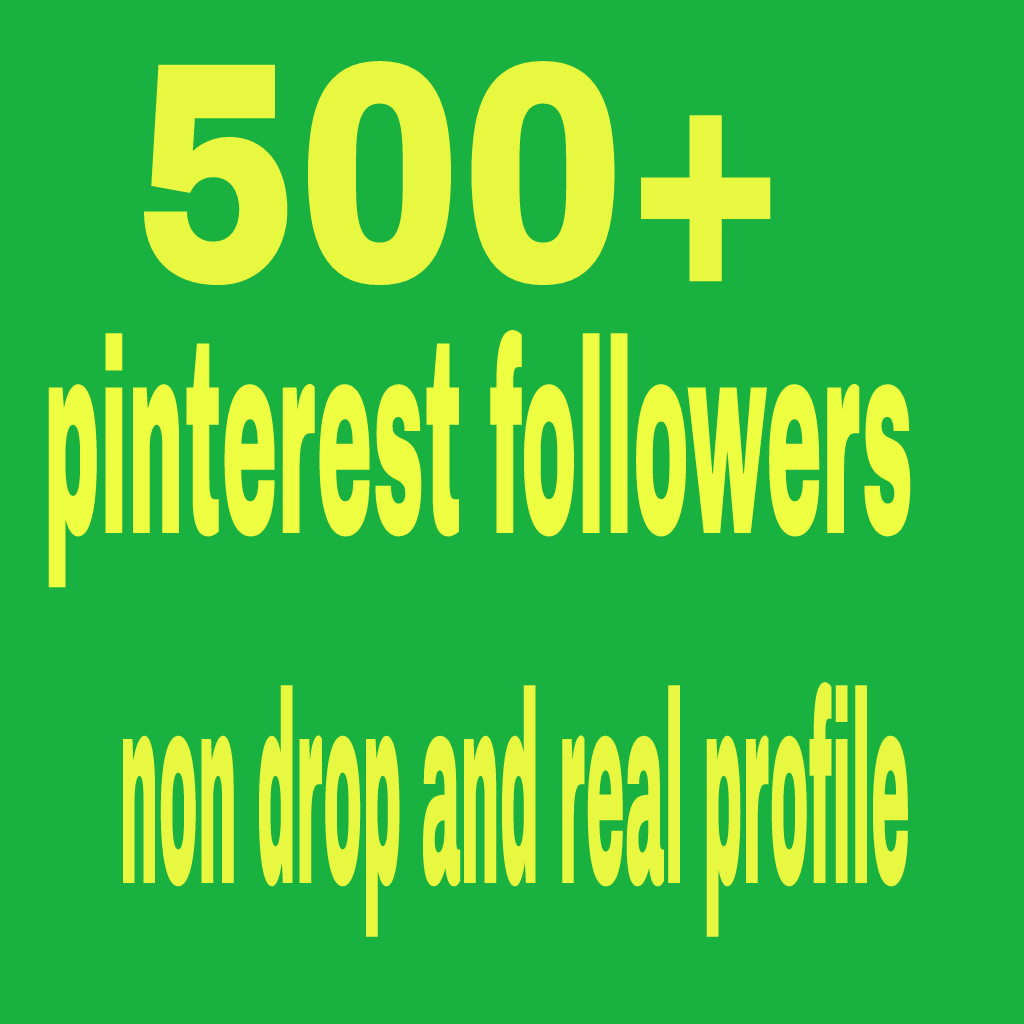 500 pinterest non drop followers real and world wide followers
