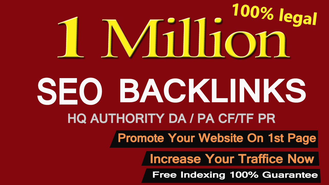 Create 1,000,000 Gsa, Dofollow, Seo Backlinks For You...