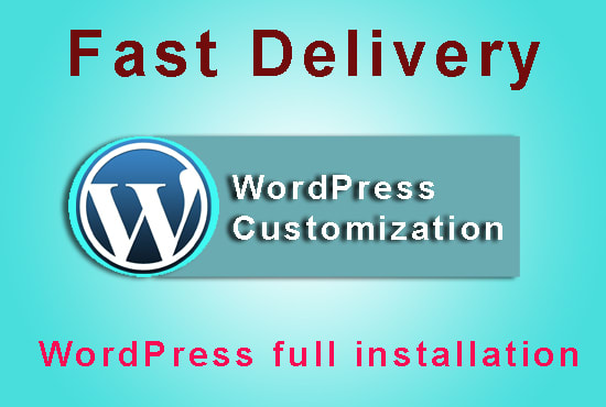 Customize,  configure,  fix or install wordpress