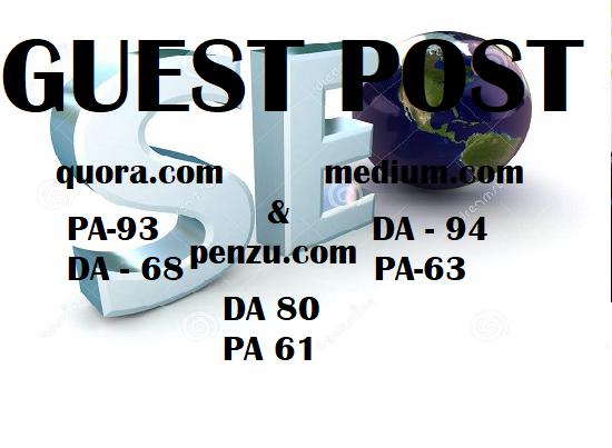 Do wrtite And Post On Quora.com,Medium.com & Penzu.com