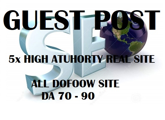 Do Write Publish 5x High Authority Guest Post Da93 To 70, Not Pbn,From Real Sites
