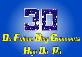 30 Dofollow Blog Comments On HiGH DA 30+