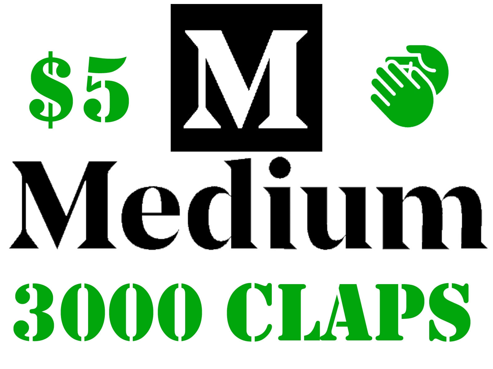 3000 Medium Claps to Your Article