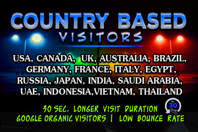 Send Targeted Web Traffic, Visitors From Usa, Uk