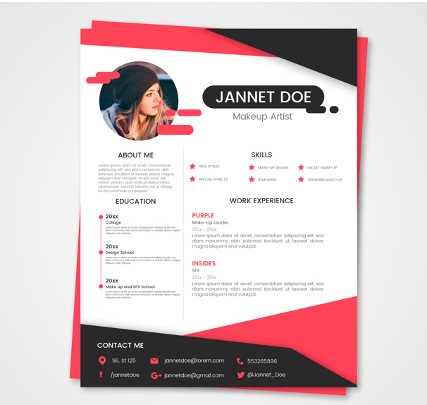 design amazing and professional cv resume   free business card 100 for  4