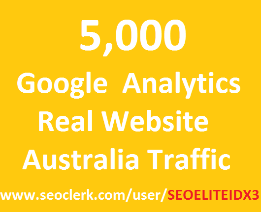 Actual traffic on the Google Analytics Australia website, 5,000, the best and only offer service