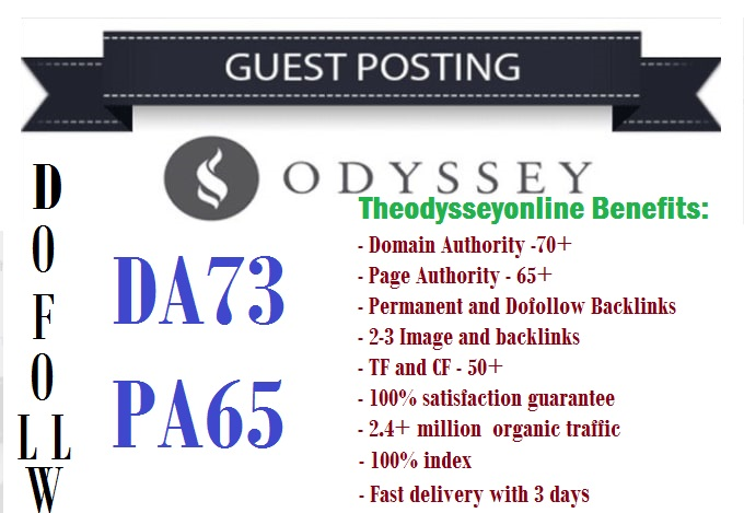 Publish Dofollow Guest Post on Theodysseyonline DA73