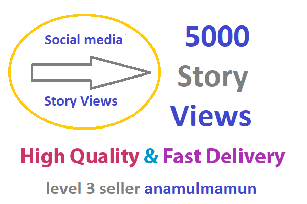 Instant 5000 High Quality Story Views