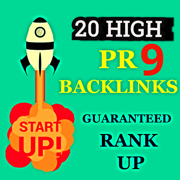 I will do 20 PR9 backlinks manual panda and penguin safe for rank your sites