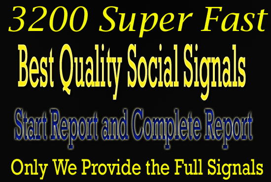 add 3200 social signals of better quality