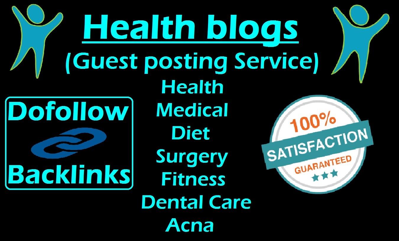 Guest Post Sevice on Health Blogs DA52
