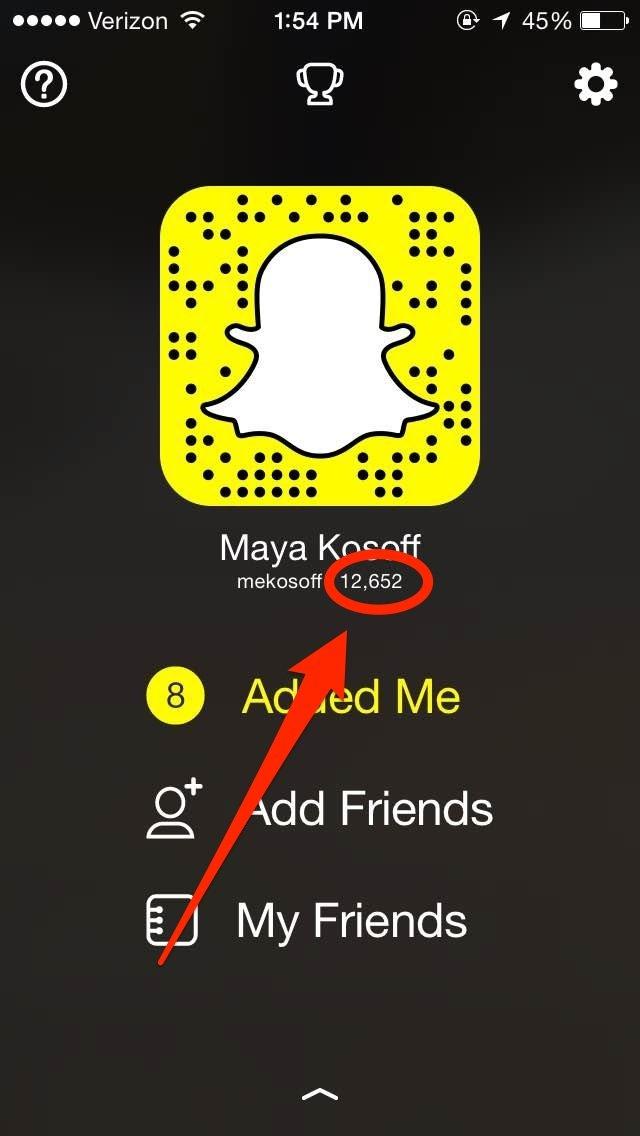 Snapchat score increase